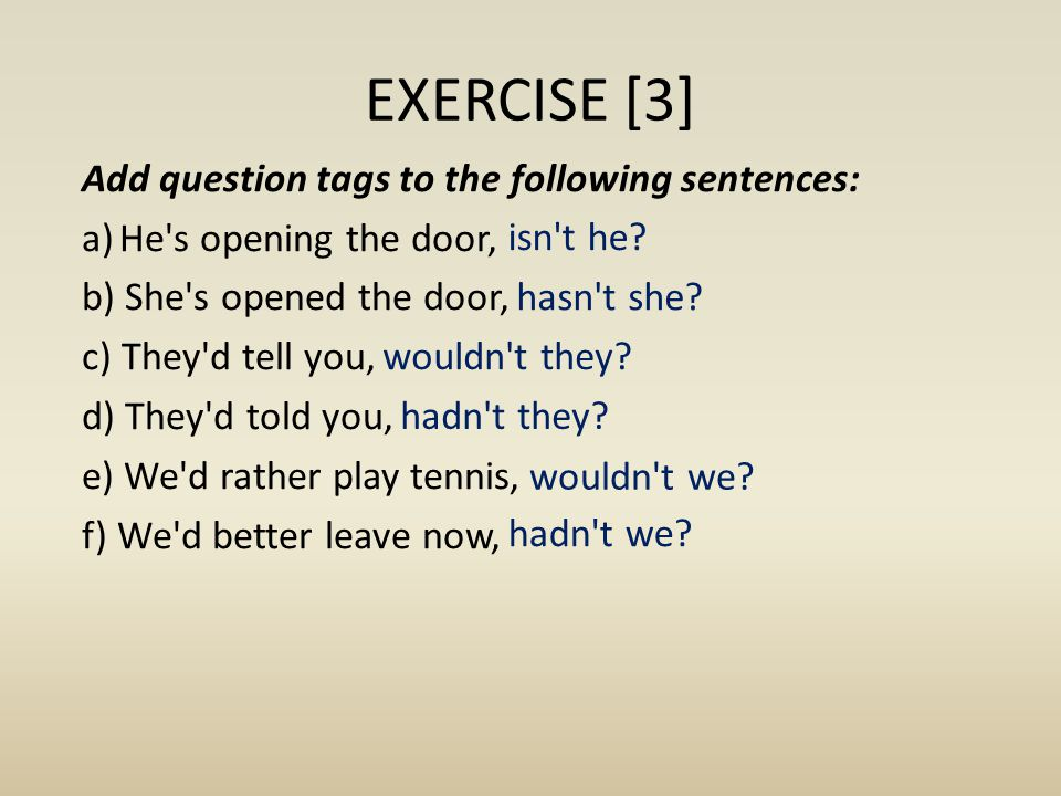 EXERCISE [3]
